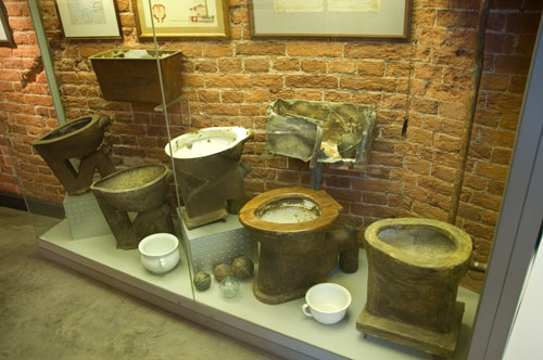 a history of the first flush toilet