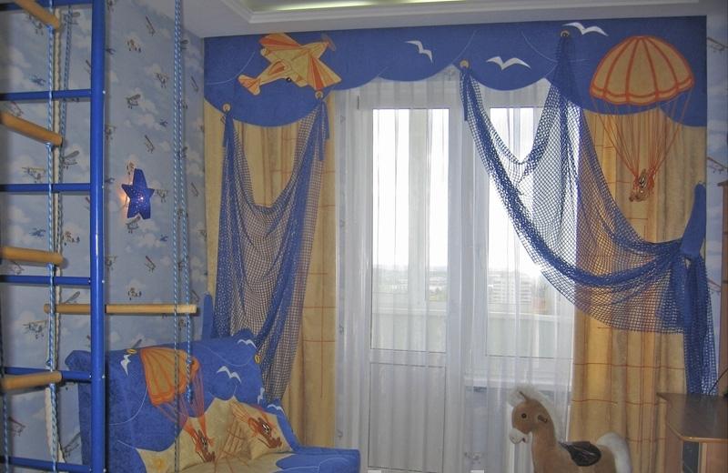 Необычные шторы для детской