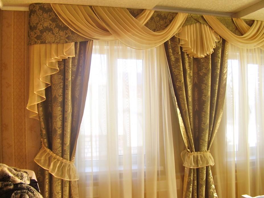 Пошив штор и ламбрекенов своими руками фото