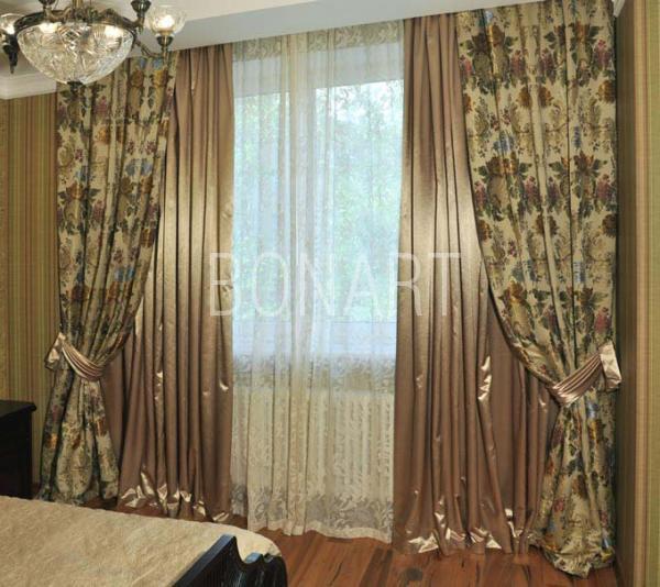 Дизайн спальни фото шторы